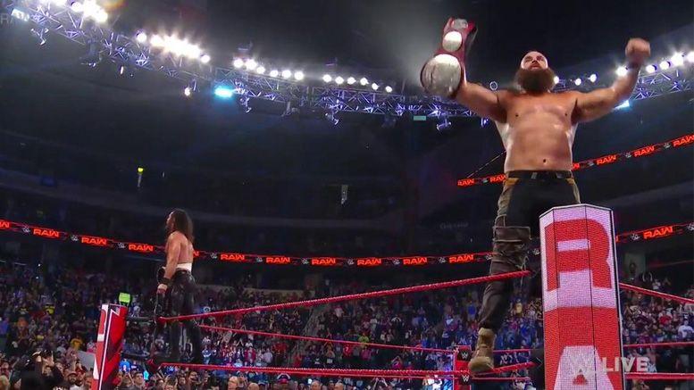 braun strowman seth rollins raw tag team titles the oc win raw video