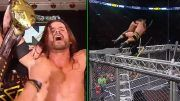 adam cole wins takeover toronto nxt cage weapons fall off video