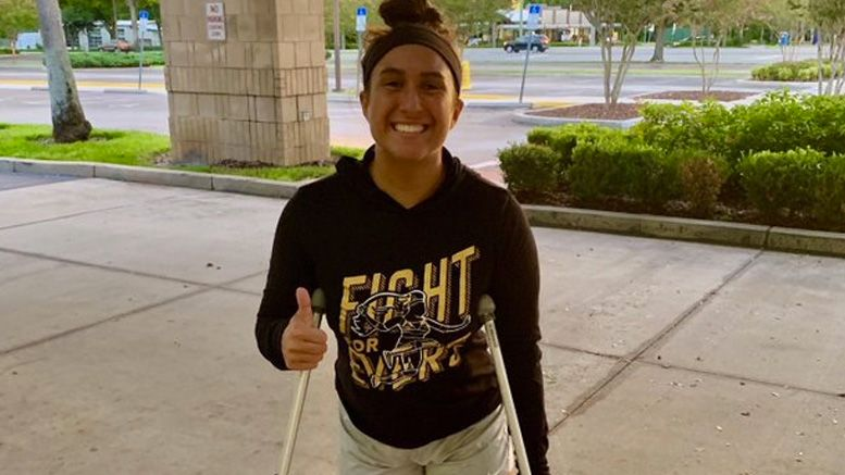 rachael evers ellering injured injury surgery torn acl