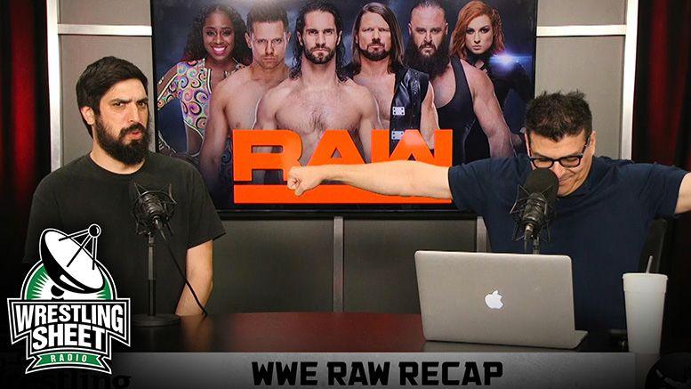 raw recap show pro wrestling sheet ryan satin john rocha