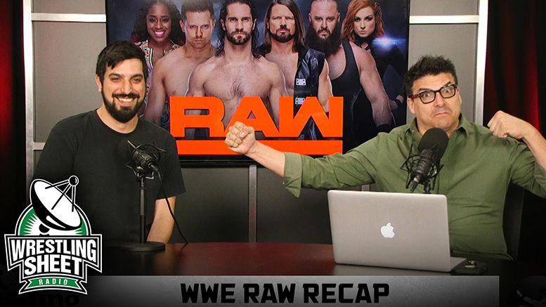 raw recap show ryan satin john rocha wrestling sheet wwe