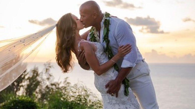 the rock married hawaii photos