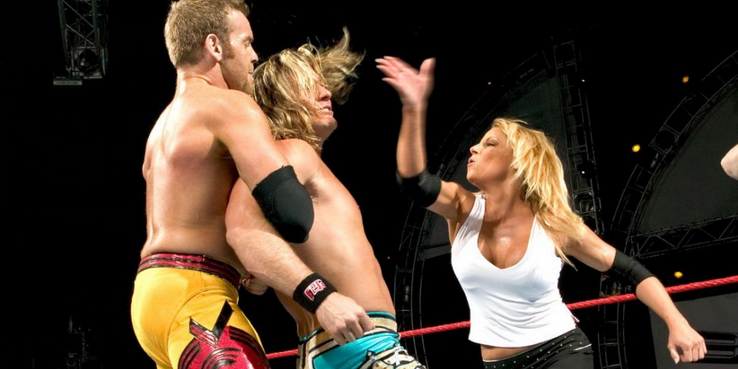 Image result for WWE Backlash 2004 Chris Jericho vs Christian and Trish Stratus