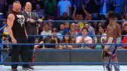 brock lesnar kofi kingston smackdown first wwe championship title