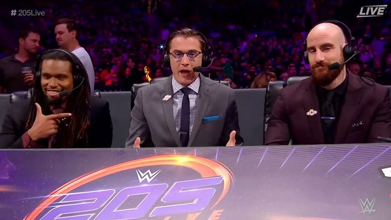 dio maddin wwe 205 live commentary nigel mcguinness