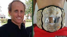 chris jericho aew all elite wrestling belt florida man discovered found craigslist frank price