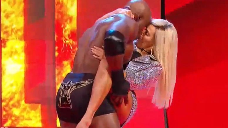 lana bobby lashley raw return video makeout