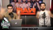 raw recap show ryan satin john rocha pro wrestling sheet
