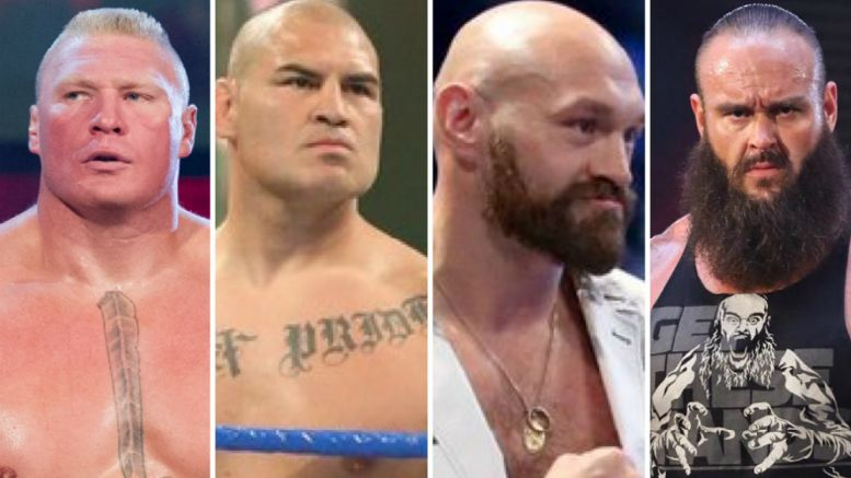 Cain Velasquez Brock Lesnar Tyson Fury, Braun Strowman, wwe