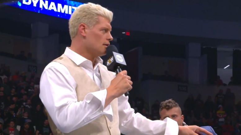 cody, aew, dynamite, all elite wrestling, dustin rhodes, mjf