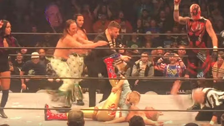 cody rhodes pinned aew dynamite after show child orange cassidy video