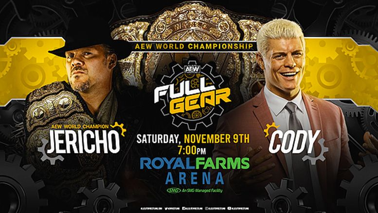 aew full gear ringside judges world title match chris jericho cody rhodes