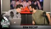 raw recap ryan satin pro wrestling sheet