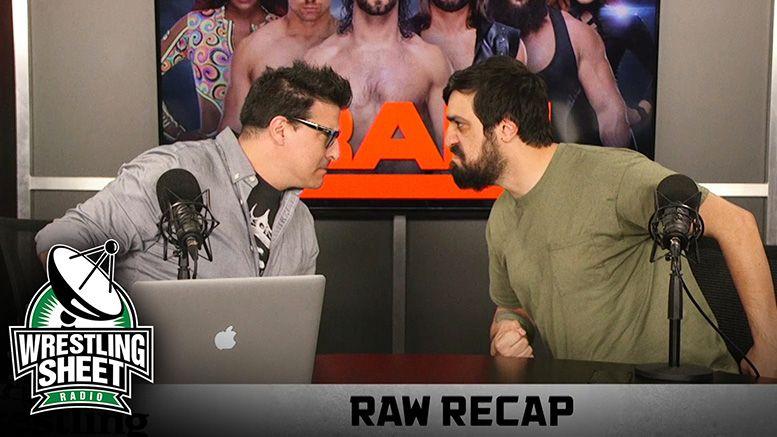 raw recap ryan satin pro wrestling sheet