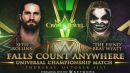 seth rollins fiend crown jewel bray wyatt falls count anywhere universal championship