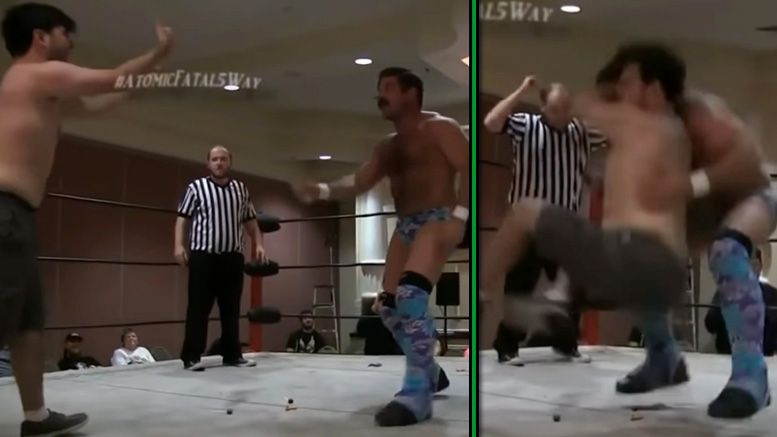 super humman joey ryan pin defeat video wrestling match debut