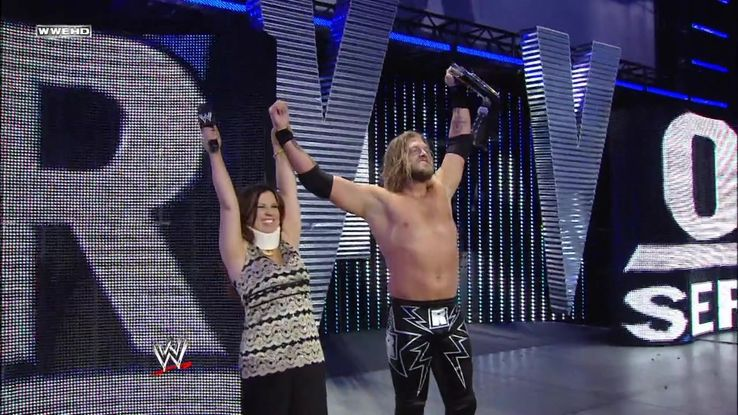Resultado de imagem para Edge vs. Triple H vs. Vladimir Kozlov - Survivor Series