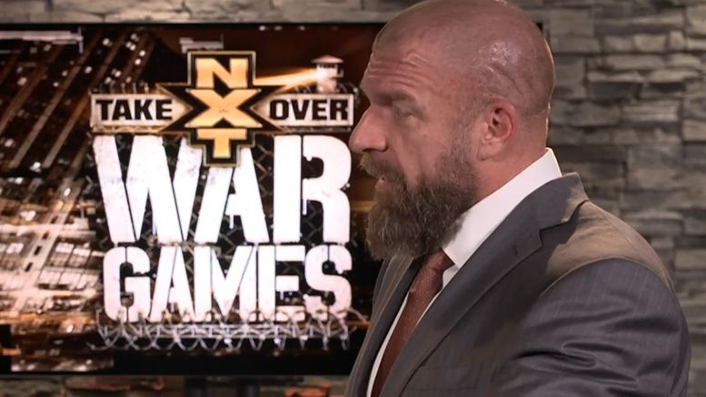 triple h nxt takeover wargames wwe post-show media call