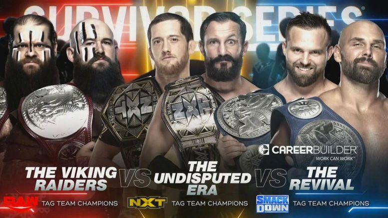 survivor series wwe championship tag title set