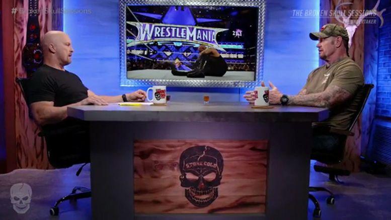 undertaker concussion wrestlemania 30 broken skull sessions brock lesnar streak interview wwe network