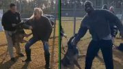 lacey evans apollo crews kalisto wwe dog attack military training video footage bite