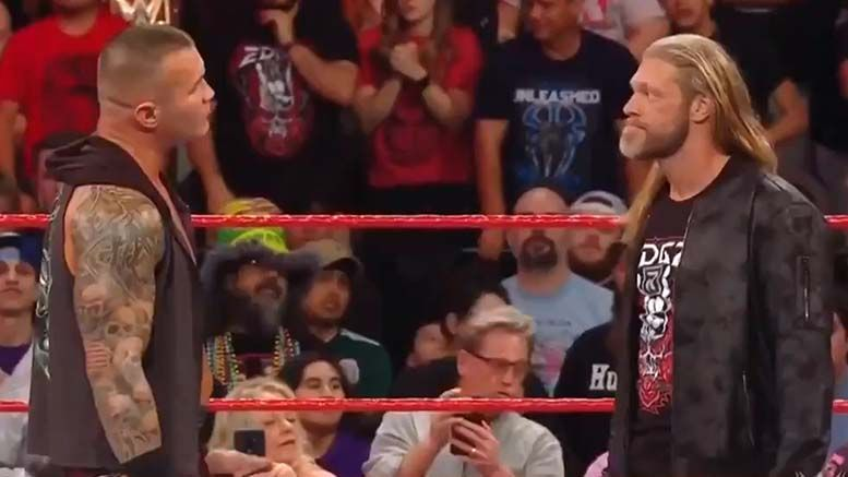 edge explains neck injury return attack randy orton raw results video