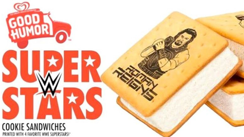 wwe ice cream bars cookie sandwiches release date