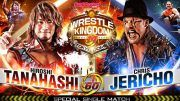chris jericho hiroshi tanahashi new japan njpw wrestle kingdom 14 results aew video