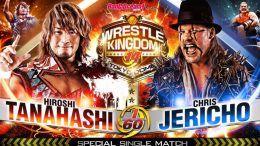 chris jericho hiroshi tanahashi new japan njpw wrestle kingdom 14 results aew video