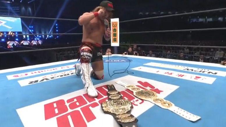 tetsuya naito wins iwgp heavyweight intercontinental double dash wrestle kingdom results