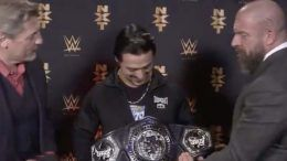 new nxt cruiserweight championship belt title wwe angel garza triple h william regal