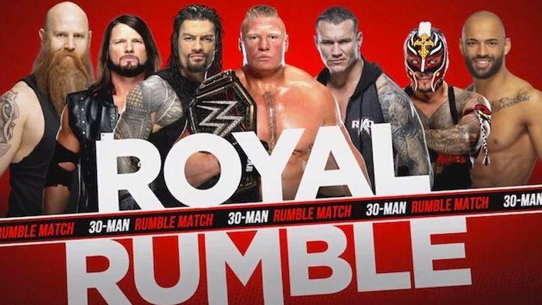 royal rumble matches set smackdown roman reigns daniel bryan the fiend lacey evans bayley shorty g sheamus