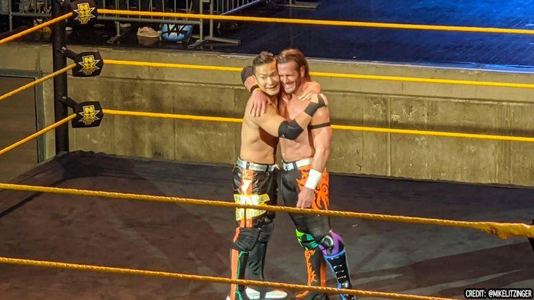 alex shelley nxt surprise appearance kushida tag match time splitters