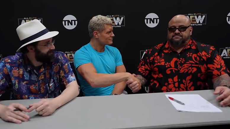 taz aew all elite wrestling signs contract