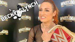 becky lynch wwe wrestlemania shayna baszler ronda rousey title reign interview