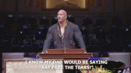 the rock eulogy rocky johnson funeral wwe video