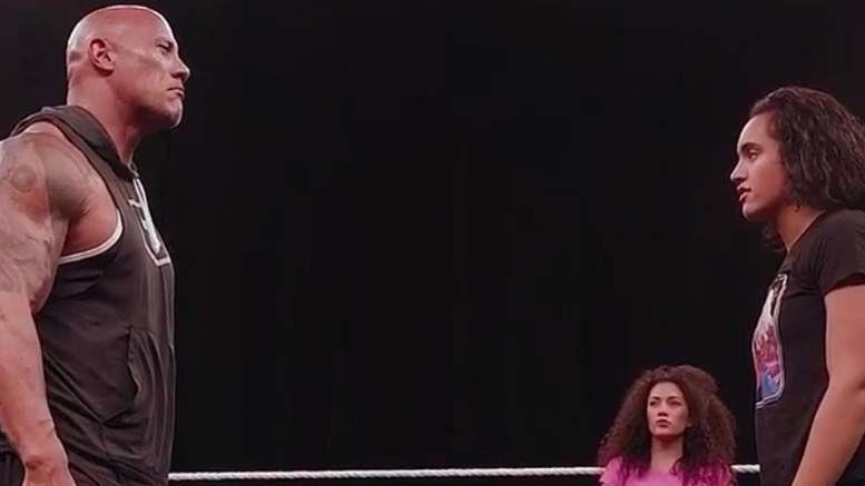 the rock simone johnson wwe performance center training wrestling footage video gust coach