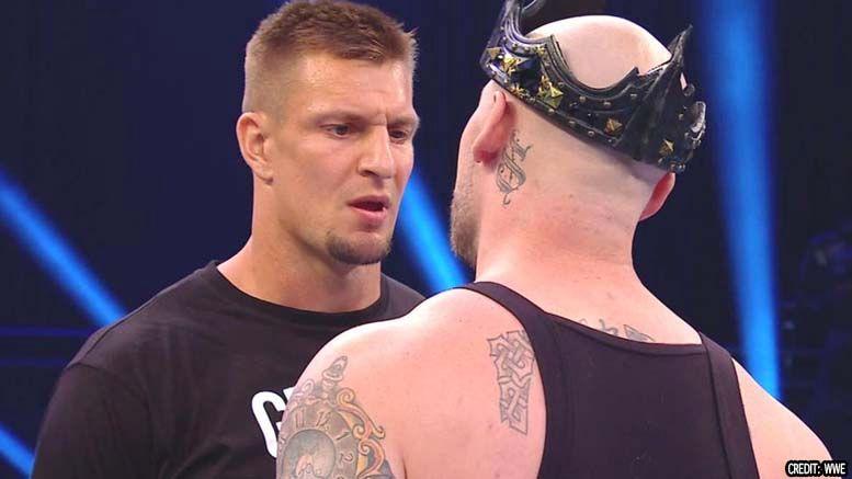 rob gronkowski wwe smackdown appearance video king corbin wwe wrestlemania