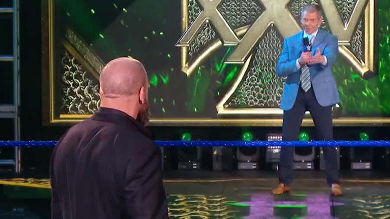 vince mcmahon triple h smackdown 25th anniversary celebration video surprise appearance video