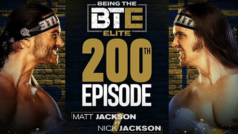 young bucks being the elite 200th 200 episode matt jackson nick aew all elite wrestling