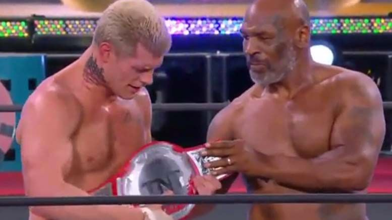 cody rhodes tnt championship win double or nothing mike tyson video