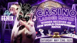 rey fenix casino ladder match injured replaced double or nothing joey janela