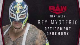 rey mysterio retirement ceremony announced raw wwe