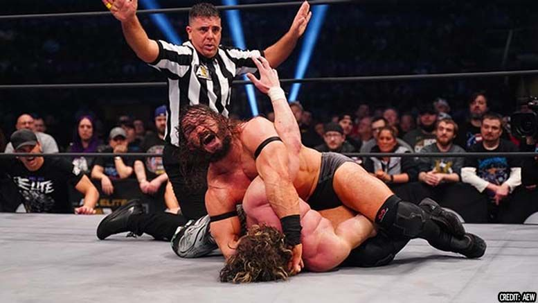 excalibur aew pac brutalizer finishing move submission name on the fly live on-air