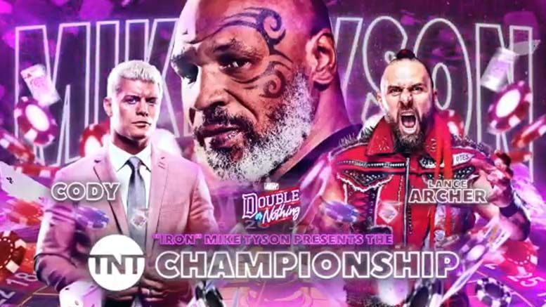 mike tyson aew double or nothing tnt championship tournament finals present title
