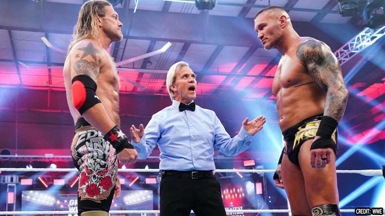 charles robinson referee shirt attire backlash edge randy orton greatest wrestling match ever