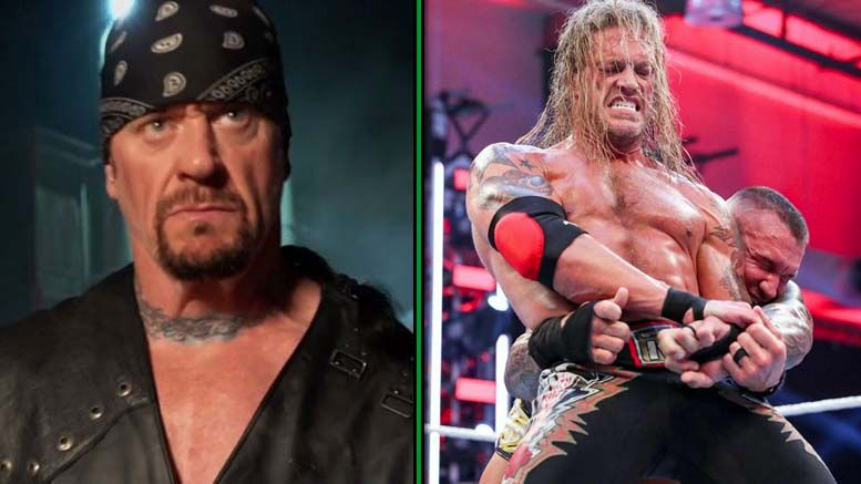 undertaker greatest wrestling match ever tear to eye backlash edge randy orton