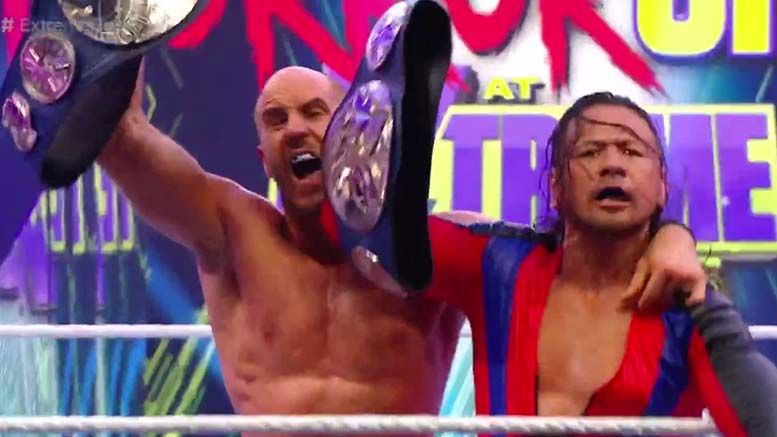 cesaro shinsuke nakamura win smackdown tag team championships extreme rules