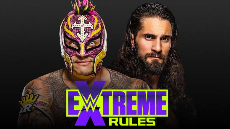 wwe eye for an eye match extreme rules horror show rey mysterio seth rollins dominick