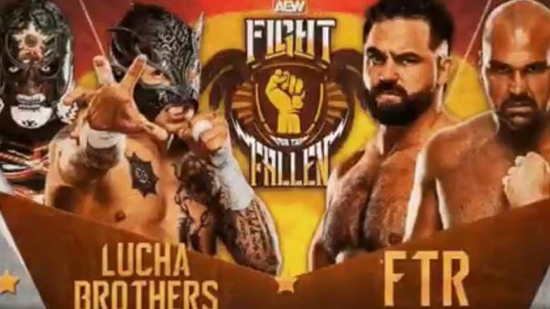 ae fight for the fallen matches confirmed ftr lucha bros